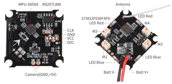 Makerfire Armor 65 Lite flight controller pin-out